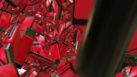 Movimentações abstratas do flash do Usb no vermelho ilustração do vetor