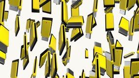 Movimentações amarelas do flash do usb ilustração royalty free