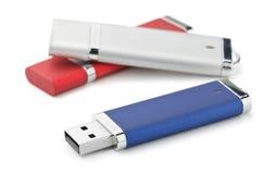 Movimentações do flash de USB Fotografia de Stock Royalty Free