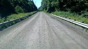 Movimenta??o da estrada de terra de Alaska video estoque