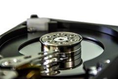 Movimenta??o de disco duro Close up de HDD imagem de stock