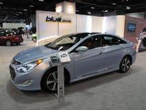 Movimentação azul da sonata de Hyundai Foto de Stock Royalty Free