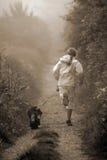 Movimentar-se com cão Fotografia de Stock