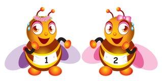 Movimentar-se de duas abelhas Imagem de Stock Royalty Free