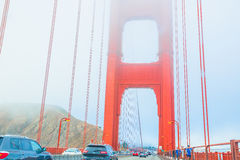 Movimentar-se de golden gate bridge Foto de Stock
