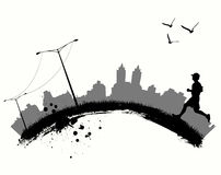 Movimentar-se na cidade ilustração royalty free