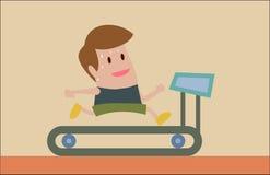 Movimentar-se na escada rolante ilustração royalty free