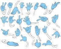 Movimenti della mano Immagini Stock
