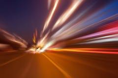 Movimento ad alta velocità alla notte Immagine Stock Libera da Diritti