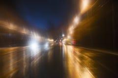 Movimento ad alta velocità alla notte Fotografia Stock