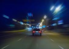 Movimento ad alta velocità alla notte Fotografia Stock Libera da Diritti