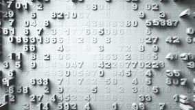 Movimento aleatório de números abstratos Fotografia de Stock