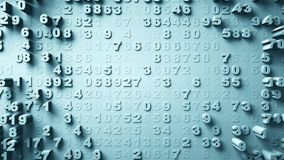 Movimento aleatório de números abstratos Imagens de Stock Royalty Free