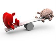 Movimento alternato con cuore ed il cervello Fotografie Stock