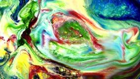Movimento artistico liquido della pittura variopinta astratta stock footage