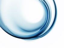 Movimento astratto circolare blu su priorità bassa bianca