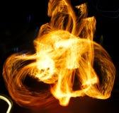 Movimento astratto del fuoco Fotografie Stock Libere da Diritti