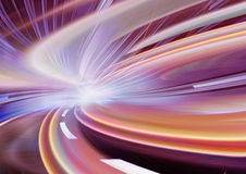 Movimento astratto di velocità su una strada della strada principale Immagini Stock Libere da Diritti