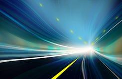 Movimento borrado abstrato azul da velocidade Imagem de Stock