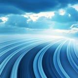 Movimento borrado abstrato azul da velocidade Imagens de Stock