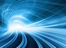 Movimento borrado abstrato azul da velocidade Imagens de Stock Royalty Free