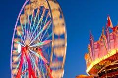 Movimento borrado da roda de Ferris do carnaval Imagens de Stock