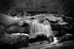 Movimento borrado e fotografia lenta da cachoeira do obturador em Smokey Mountains National Park fotos de stock