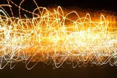 Movimento caótico das luzes fotos de stock royalty free