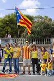 Movimento Catalan da independência Foto de Stock Royalty Free
