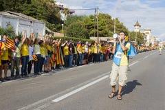 Movimento Catalan da independência Foto de Stock