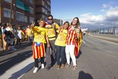 Movimento Catalan da independência Imagens de Stock Royalty Free