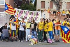 Movimento Catalan da independência Imagem de Stock Royalty Free