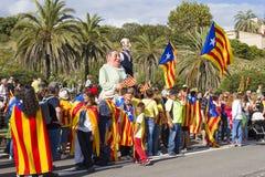 Movimento Catalan da independência Fotografia de Stock
