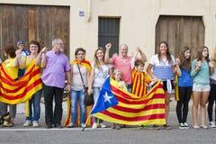 Movimento Catalan da independência Fotos de Stock Royalty Free