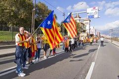 Movimento Catalan da independência Imagem de Stock