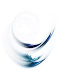 Movimento circular azul dinâmico no branco ilustração stock