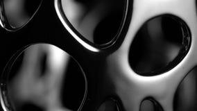 Movimento circular de uma superf?cie do cromo vídeos de arquivo