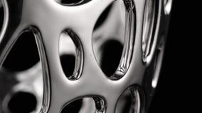 Movimento circular de uma superf?cie do cromo video estoque