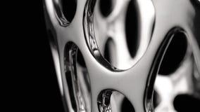 Movimento circular de uma superf?cie do cromo filme