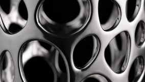 Movimento circular liso de uma superfície do cromo filme