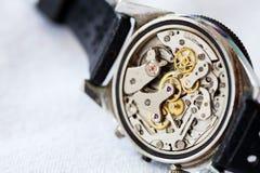 Movimento d'annata dell'orologio Fotografia Stock