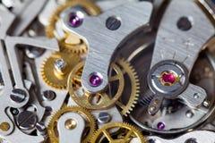 Movimento d'annata dell'orologio Immagine Stock
