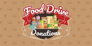 Movimento da caridade da movimentação do alimento, ilustração do vetor ilustração royalty free