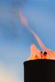 Movimento da chama do fogo Imagens de Stock