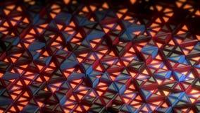 movimento da forma do triângulo do laço da animação 3d ilustração stock