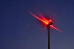 Movimento da rotação da turbina eólica imagens de stock