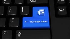 396 Movimento da rotação das notícias de negócios no botão do teclado de computador ilustração do vetor