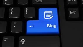 489 Movimento da rotação do blogue no botão do teclado de computador ilustração royalty free
