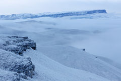 Movimento das nuvens nas montanhas, Cáucaso do norte, Russ Foto de Stock Royalty Free
