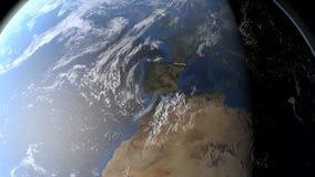 Movimento de espaço em torno da terra ilustração do vetor